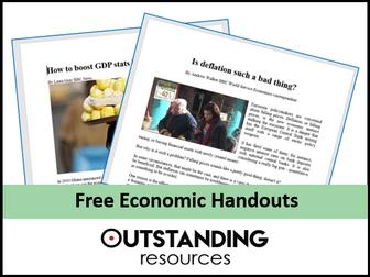 Economic Handouts - Inflation (7 Newspaper Articles)
