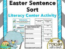 Easter Sentence Sort: Literacy Center Activity