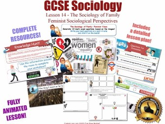 Feminist Perspectives - Sociology of Family L14/20 [ AQA GCSE Sociology - 8192] Delphy Oakley NEW