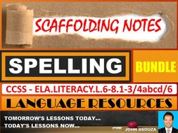 SPELLING: SCAFFOLDING NOTES - BUNDLE