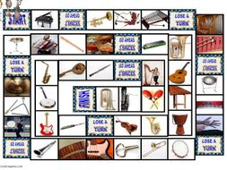 Musical Instruments Animated Board Game