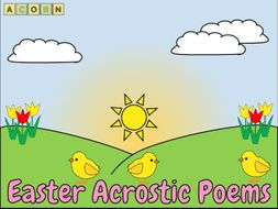 Easter Acrostic Poems - examples and templates
