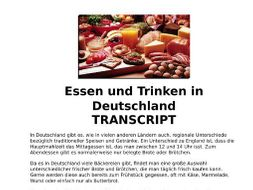 Food & Drink (Essen) German Listening, MP3 & Transcript