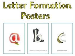 Alphabet Display Posters - RWI Phonics Letter Formation