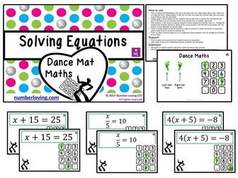 Solving Equations (Dance Mat Maths)