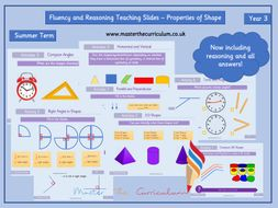 Year 3 - EDITABLE Properties of Shape Fluency and Reasoning Teaching Slides - White Rose Style