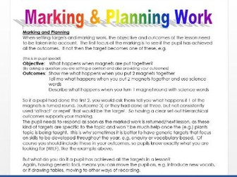 Differentiation and Marking Work Effectively