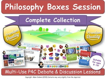 20 Philosophy Boxes Lessons! Complete Primary School P4C Teaching Course Materials! [Critical Thinking, Philosophy, Ethics, SMSC, Cross-Curricular. KS1, KS2, KS3.]