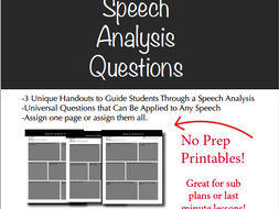 Speech Analysis Questions, Rhetoric Analysis