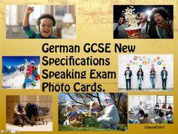 German GCSE 9 - 1 Specifications Speaking Exam Photo Cards.