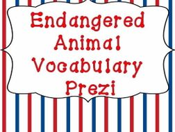 Endangered Animal Vocabulary Prezi
