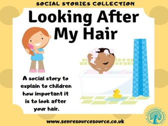 Taking care of my hair social story