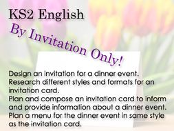 Ks2 English By Invitation Only