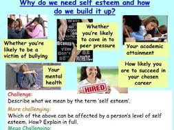 Self Esteem + Mental Health PSHE