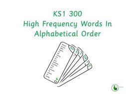 KS1 HFW Spelling List
