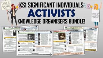 KS1 Significant Individuals - Activists - Knowledge Organisers Bundle!