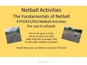 KS2/1 EYFS Netball Activities No. 2