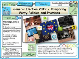 General Election 2019 -Party Policies