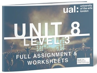 UAL-Level 3-Unit 8 - Collaborative Music Performance Project-FULL UNIT