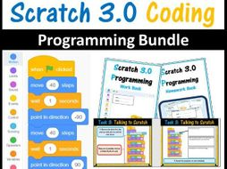 Scratch 3.0 Online Bundle (11 lessons SOW with Workbook, Homework Book and PowerPoint Presentations)