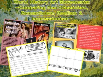 "World History: Art Movements (1700-1890) Power-Point & Student ""Foldable"" Activities"