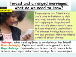 Forced + Arranged Marriages RSE / PSHE 2020