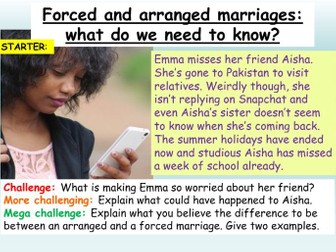 Forced + Arranged Marriages RSE