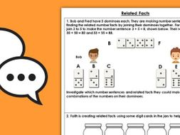 Year 2 Related Facts Autumn Block 2 Maths Discussion Problems
