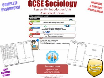 Assessment Lesson - Introduction Unit L10/12 - GCSE Sociology