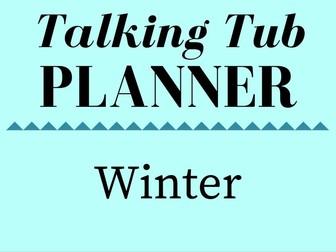 Winter Talking Tub Planner