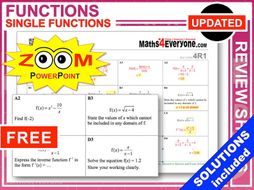 GCSE Revision (Functions)