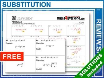 Substitution into Formulae (GCSE Summary)