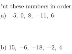 Ordering and comparing integers worksheet (with solutions) by math_w ...