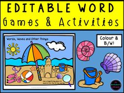 Editable Phonics Word Games and Activities