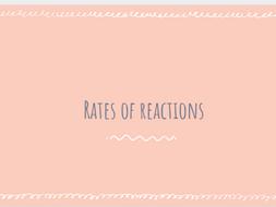 AQA GCSE Chemistry Rates of Reaction - whole unit