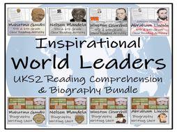 UKS2 History - Inspirational World Leaders Reading Comprehension  & Biography Mega Bundle