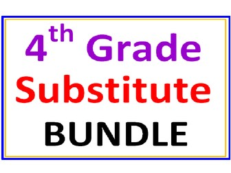 Fourth Grade SUBSTITUTE BUNDLE (25 worksheets)