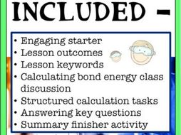 Calculating Bond Energy Lesson