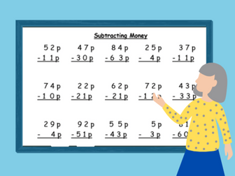 Adding and Subtracting Money- Home Learning 4 Worksheets (KEY STAGE 2)
