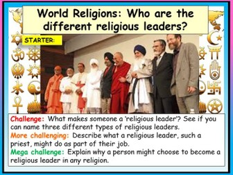 World Religions - Leaders