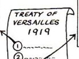 Treaty of Versailles Dingbats / Flash Revision Cards