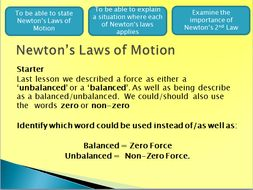 Newtons Law's (F=ma)