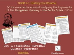 Edexcel GCSE Superpower relations and the Cold War - Unit 1& 2 Narrative Question Exam Preparation