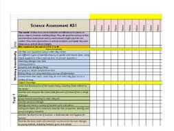 Whole School Science Assessment, Interim Standards Sheets, Excel Spread  Sheet, PPT Presentation