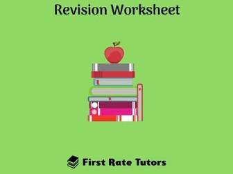 The Industrial Revolution Revision Worksheet