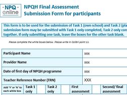 NPQH Assignment Tasks 1 & 2