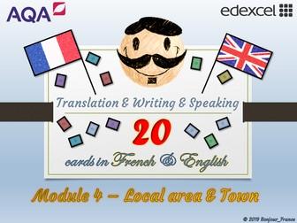 GCSE French - Q&A / Translation Card Set (Module 4: Town & Region)