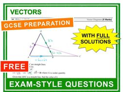 GCSE 9-1 Exam Question Practice (Vectors)