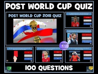 Quiz: Post Football World Cup 2018 Quiz: 100 Question PowerPoint Quiz