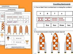 Year 1 Counting Backwards Autumn Block 1 Maths Homework Extension